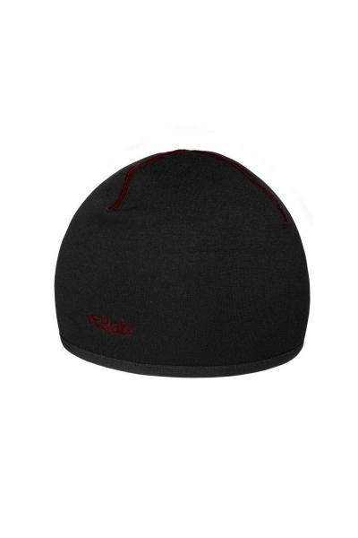 Czapka Power Stretch black/red logo